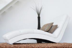 canape cuir blanc