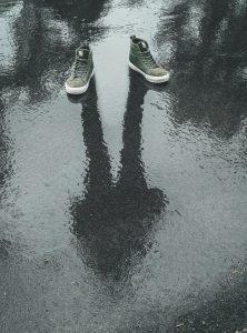 chaussure avec eau